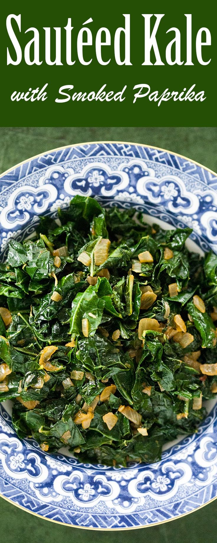 Sautéed Kale with Smoked Paprika ~ BEST sautéed kale you will ever taste! Seasoned with smoked paprika and crushed chile pepper flakes. ~ SimplyRecipes.com