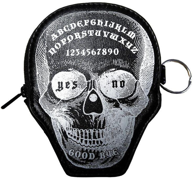 Monedero Calavera Ouija de Banned #purse #nugoth #accesorios #gotico #tienda #gotica #skull #xtremonline