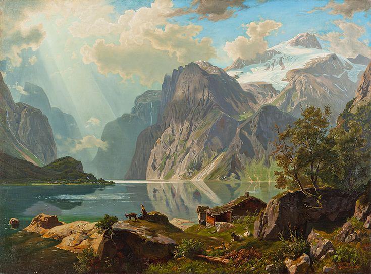 Karl Arweiler: Vierwaldstättersee, Öl auf Leinwand, 85 x ...