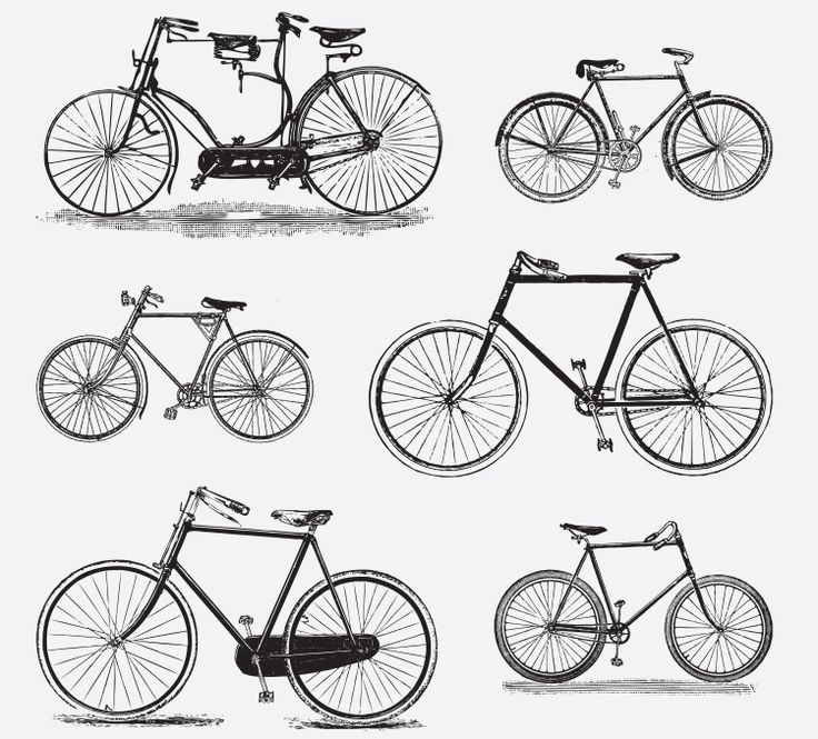 BICYCLES FREE VINTAGE VECTOR PRINTABLE | http://www.freevintagevectors.com/2015/07/bicycles.html
