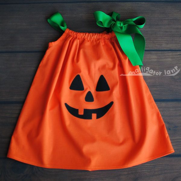 Pumpkin Dress Pillow Case Dress Halloween Dress Orange Girls Toddler Dress Jack O Lantern Pillowcase Dress Pumpkin Costume. $20.00, via Etsy.