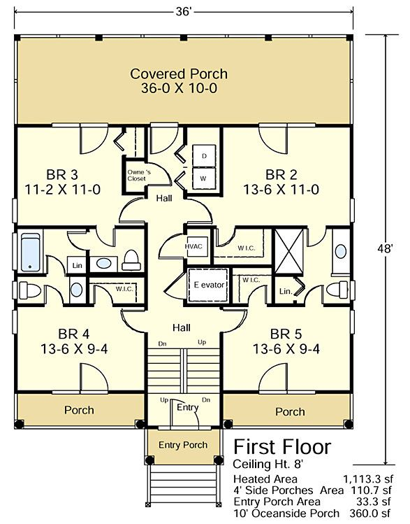 44 best Elevated Floor Plans - Beach images on Pinterest | Beach ...