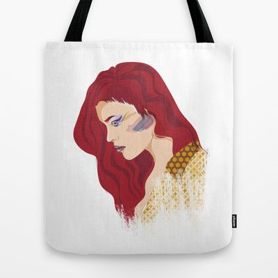 Glam Red Rock Tote Bag by clickybird - Belinda Gillies - $22.00