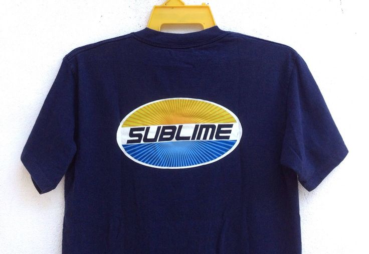 Vintage 90s Sublime T Shirts Spell Out American Ska Punk Band Long Beach Size Medium by TwoNineVintageStore on Etsy