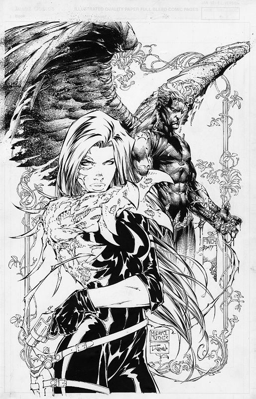 Witchblade vs. Ian Nottingham by Michael Turner | Turner