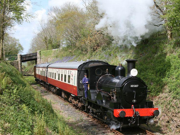 Bodmin to Wenford steam train