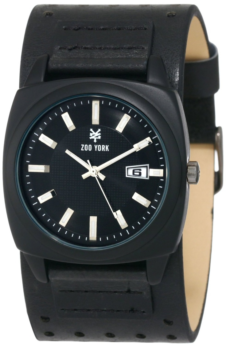 Zoo York Men's Matte Black Barrel Analog with Date Case Watch