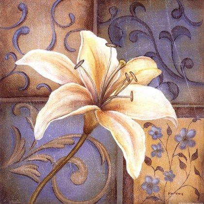 White Lily by Kim Lewis art print
