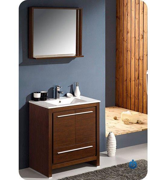 Fresca Allier (single) 29.5-Inch Wenge Brown Modern Bathroom Vanity Set