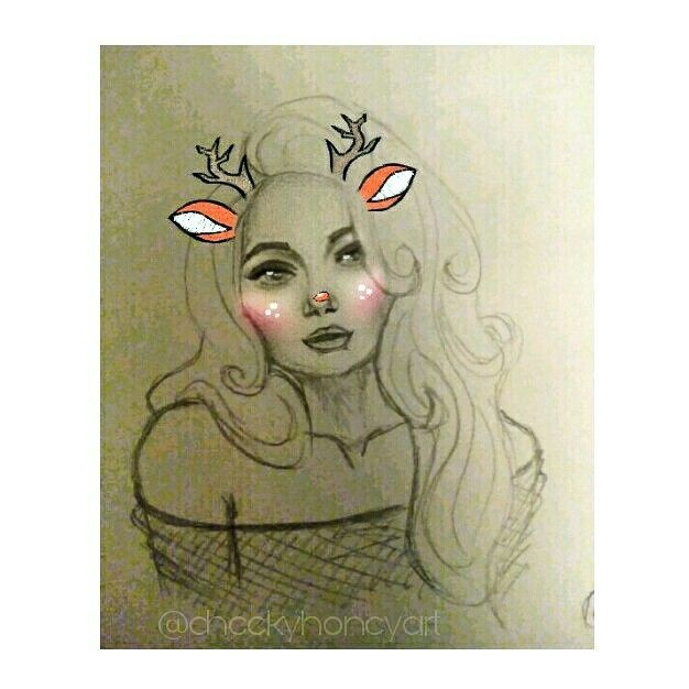 My Daily Doodle is feeling it 😂😎❄ Please comment and share :) Sorry for the bad quality but Snapchat kills every detail 😅 #drawing #pencil #sketch #girl #woman #deer #cute #art #dialyart  #face #draw #artist #learning #artsy #doodle #wip #artwork #sketching #artoftheday #study #facestudy #drawingoftheday #cartoon #follow #share #anime #portrait