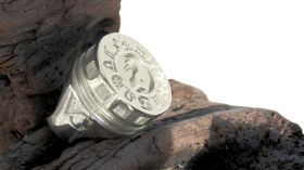 """Ring """"Shalom"""" Wearable microsculpture - Work of art - limited edition (8 pieces), silver 925-2016."""