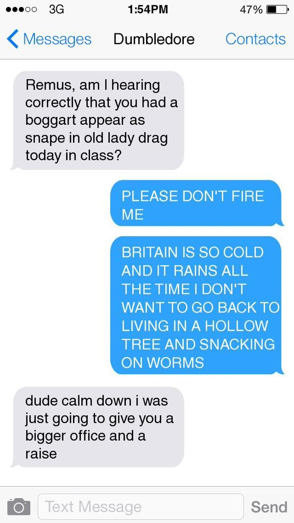 awesome 15 Riddikulus texts the characters of 'Harry Potter' would definitely send by http://dezdemon-humoraddiction.space/harry-potter-humor/15-riddikulus-texts-the-characters-of-harry-potter-would-definitely-send/