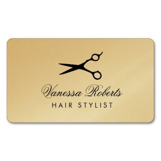 Hairdresser business cards for hair stylist salons