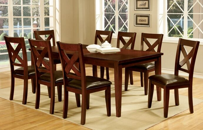 7 pc homedale i collection transitional style dark cherry