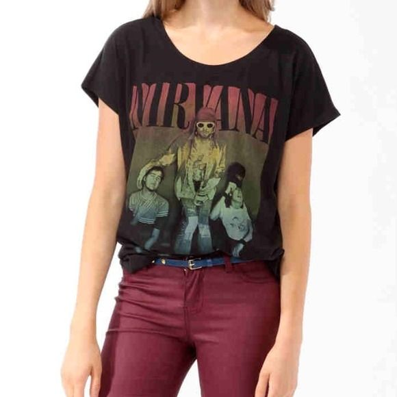 Nirvana Shirt Perfect condition. Worn once or twice. Forever 21 Tops