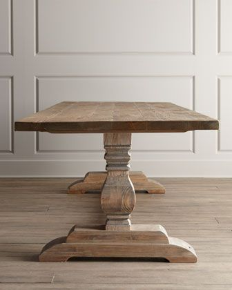"""Kitchen table selected Natural Dining Table and """"Elizabeth"""" & """"Melody"""" Chairs - Horchow"""