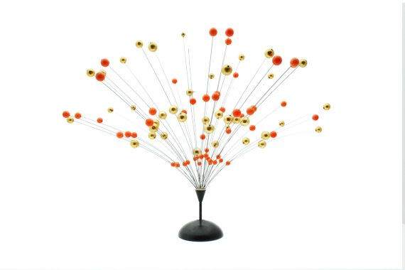 Atomic Ball Sculpture  Orange and Gold  Kinetic  by Thrifters, £85.00