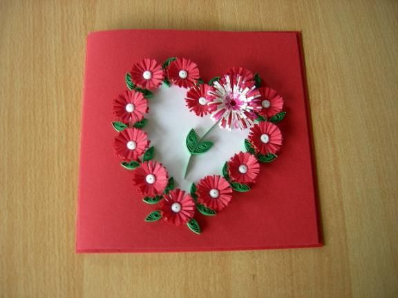329 best images about Quilling – Flower Valentine Card