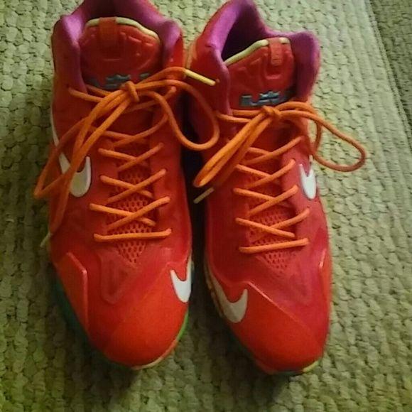 LEBRON FRUITY PEBBLES Neon orange Lebron Fruity pebbles Nike Shoes Sneakers