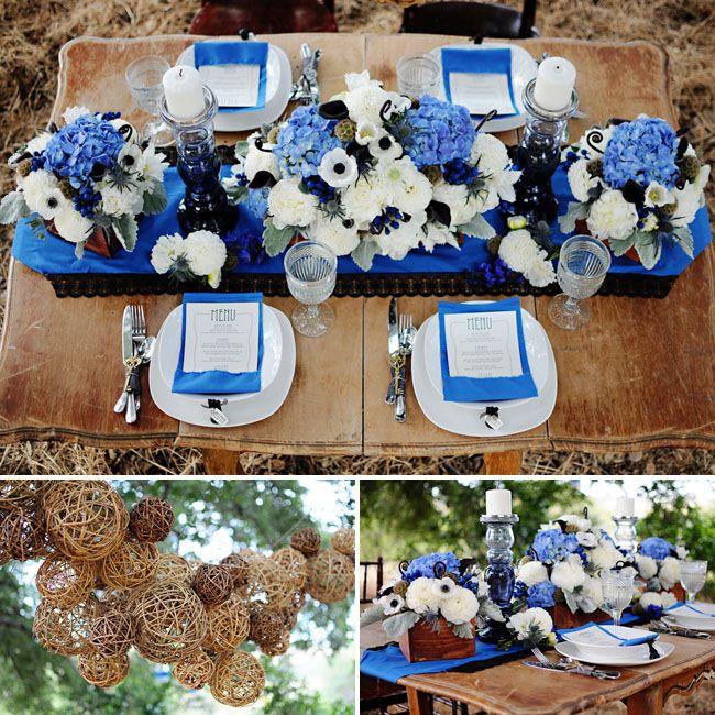 Blue Wedding Decorations: 17 Best Images About Blue Wedding On Pinterest