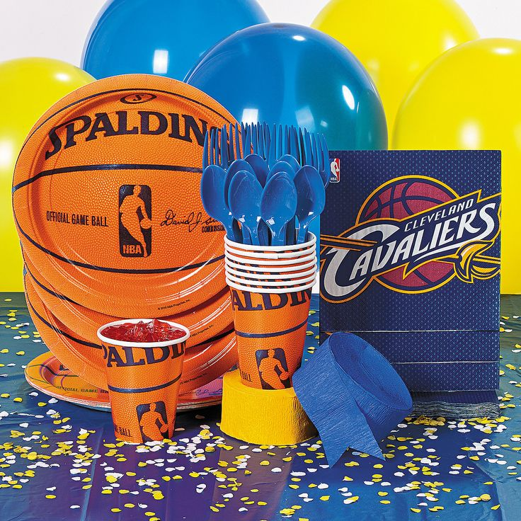 NBA® Cleveland Cavaliers™ Basic Party Pack - OrientalTrading.com $20