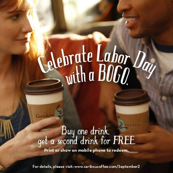 Buy One Get One FREE Drinks At Caribou Coffee!