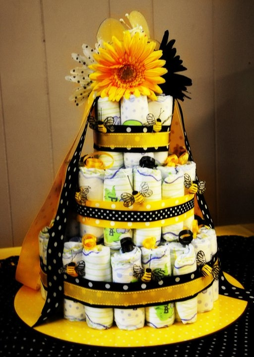 Bumble Bee Diaper Cake Baby Shower
