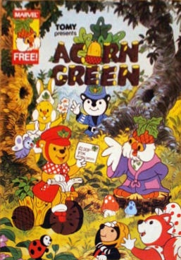 Acorn Green: The comic series, by Marvel UK, ran from October 1986 to July 1987 over 36 issues. It contained stories featuring the characters, puzzles, things to do and most importantly, information on wildlife, forestry issues and environmental issues in a way that young children could understand (http://en.wikipedia.org/wiki/Acorn_Green)