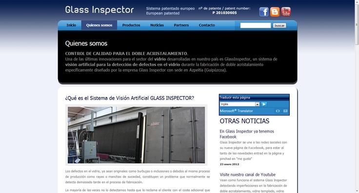 Web del Sistema de Visión Artificial GLASS INSPECTOR