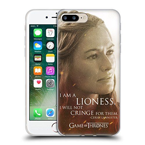 Official HBO Game Of Thrones Cersei Lannister Character Portraits Soft Gel Case for Apple iPhone 7 Plus