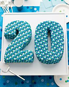 Transform sheet cakes from basic to impressive with simple stencils, some straightforward cutting skills, and colorful candies. If your birthday girl or boy prefers chocolate, make a double batch of the Number-Themed Mini Birthday Cupcakes; bake for about 20 minutes.