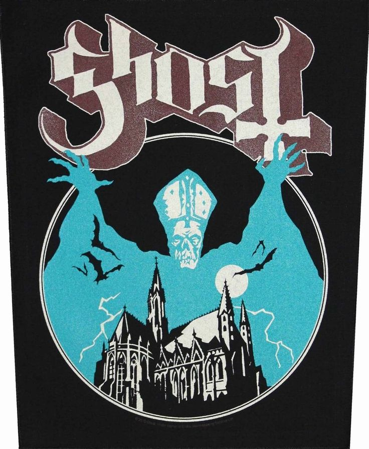 XLG Ghost Opus Eponymous Heavy Metal Music Band Woven Applique Patch