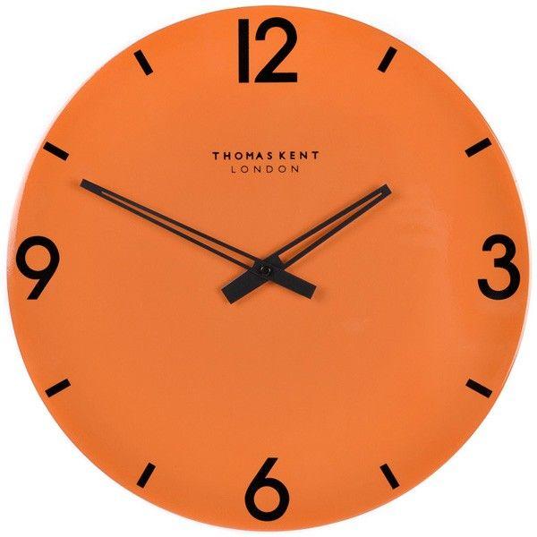 Thomas Kent Oxford Burnt Orange Clock 15 Inch Contemporary Wall Corsham St In 2018 Pinterest Clocks And