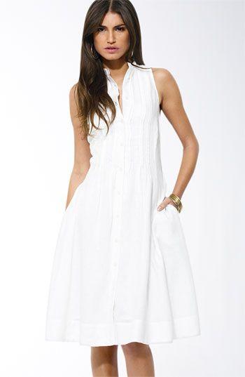 Nordstrom's White Linen Dress