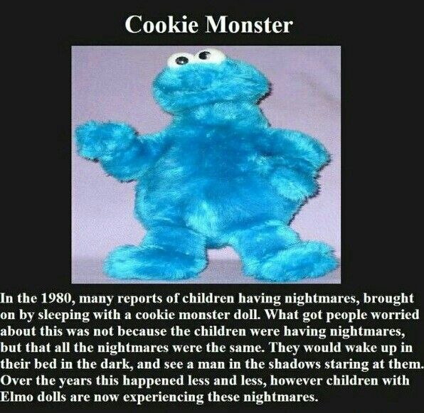 So that's why there's no more Elmo or Cookie Monster dolls