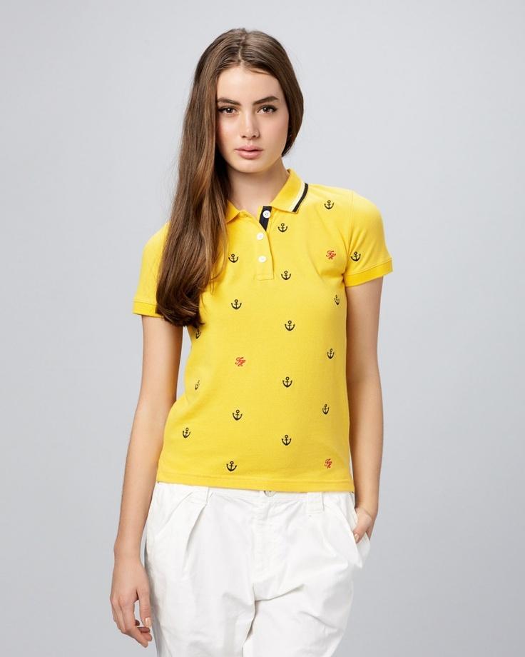 【TOMMY HILFIGER WOMEN イエロー イカリマーク刺繍ポロシャツ】  イカリマークがキュート♪  元気なイエローカラーがあなたの夏休みを盛り上げる♪  http://glamour-sales.com/preview/product/74317/9AcCYgtq6