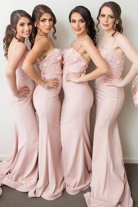 dfd3c1c7249 Mermaid Spaghetti Straps Prom Dresses