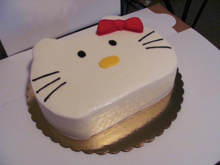 Hello Kitty cake (All cake/All butter cream) - Erin Miller Cakes - https://www.facebook.com/erinmillercakes