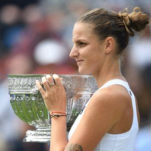 Pliskova defeats Wozniacki for maiden Eastbourne title & 3rd title of the 2017 season ...Pliskova needed 90 minutes to win the trophy and become the first top-10 player to win the event since former Wimbledon champion Marion Bartoli in 2011.