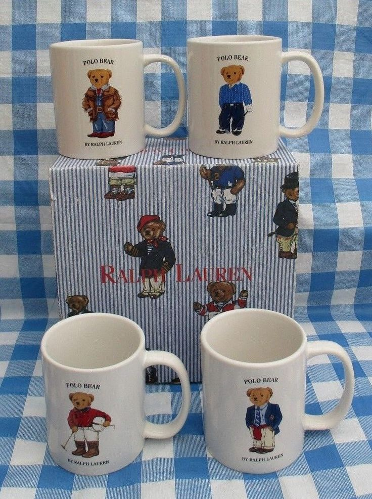 #Vintage 1997 polo #ralph lauren #teddy bear mugs set of four boxed,  View more on the LINK: http://www.zeppy.io/product/gb/2/222392647906/