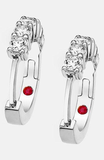 Women's Roberto Coin Diamond Hoop Earrings - White Gold