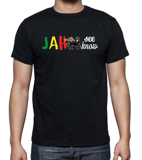 Jah See Jah Know T-Shirt Rasta Lion Of Judah Roots by 969Tshirts