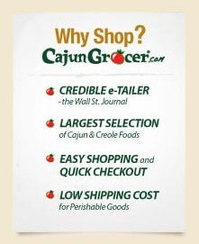 Cajun Food | Turducken | New Orleans Food | Live Crawfish | Boudin and more ....
