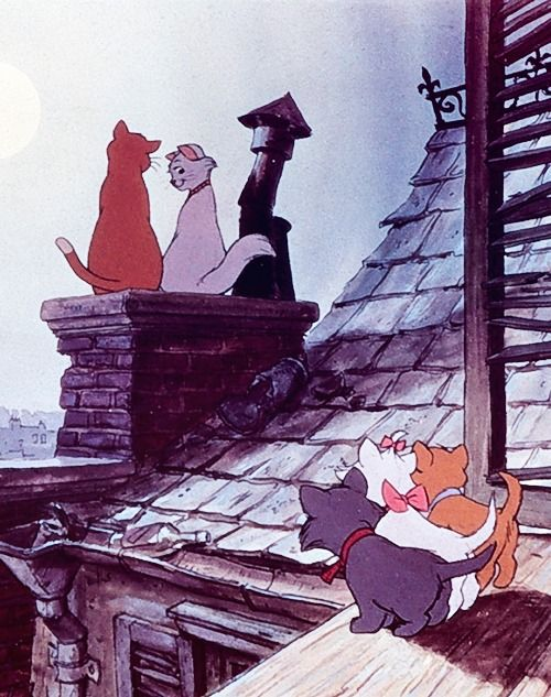 The Aristocats I watched this film when I first got my little kitten Rosie, (she was Simba back then but she never replied to it ahah) anyways, we watched it together and bonded she even started meowing at the cats on screen, this was the moment I realised, I definatly picked the right cat. We are now life long partners, 2013 and still going strong;)