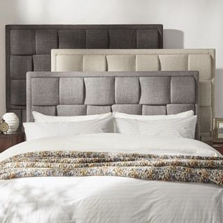 shop for tribecca home porter linen woven queen upholstered headboard and more for everyday discount prices