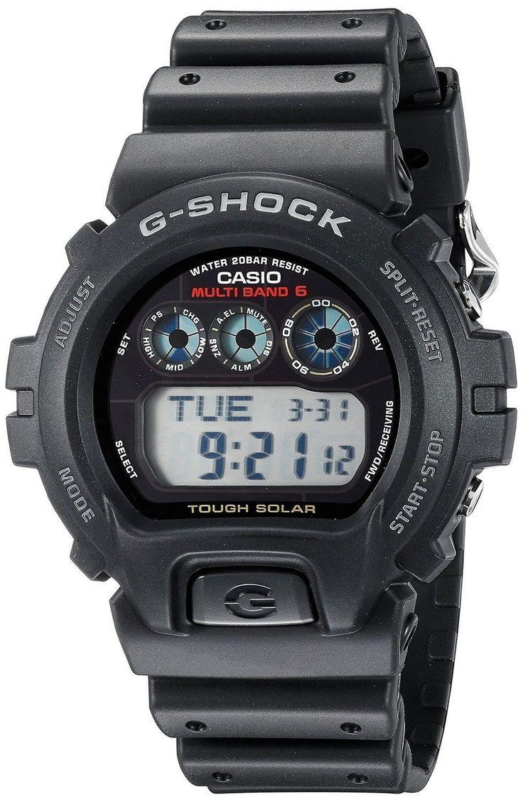 Casio Mens GW6900-1 G-Shock Tough Solar Digital Sport Watch