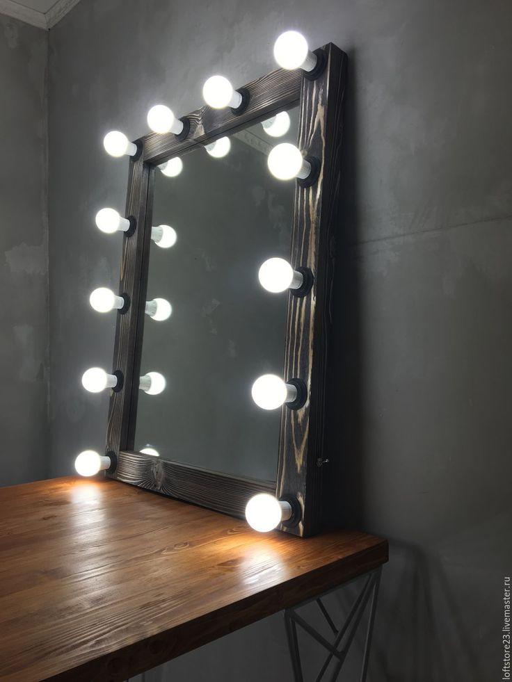 Купить Гримерное зеркало OLD TIMBER. - коричневый, зеркало, гримерное зеркало, зеркало визажиста
