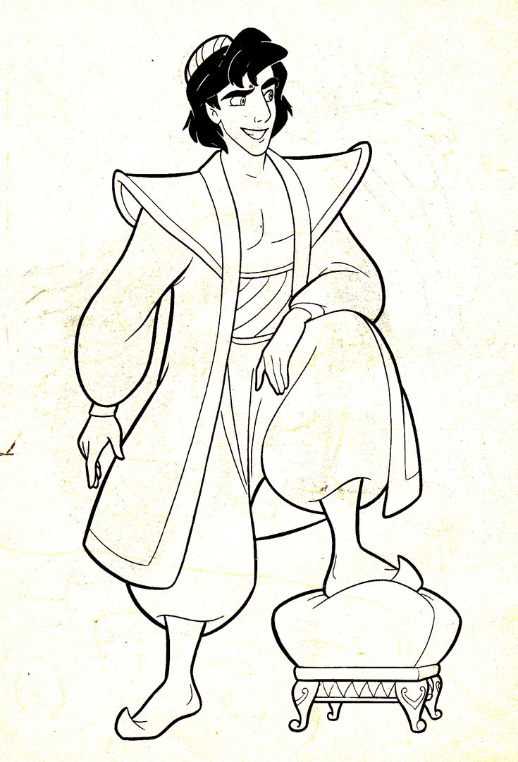 Coloring pages disney channel characters - Walt Disney Characters Photo Walt Disney Coloring Pages Prince Aladdin