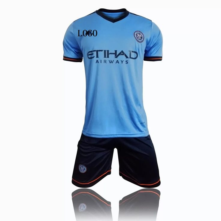 2017/18 New York City FC Home Jersey Uniforms Blue Adult Football Kits