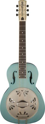 SAVE $350 - #Gretsch G9212 Roots Series Honey Dipper Special Square-Neck Resonator Guitar - Weathered Delta Blue $549.00